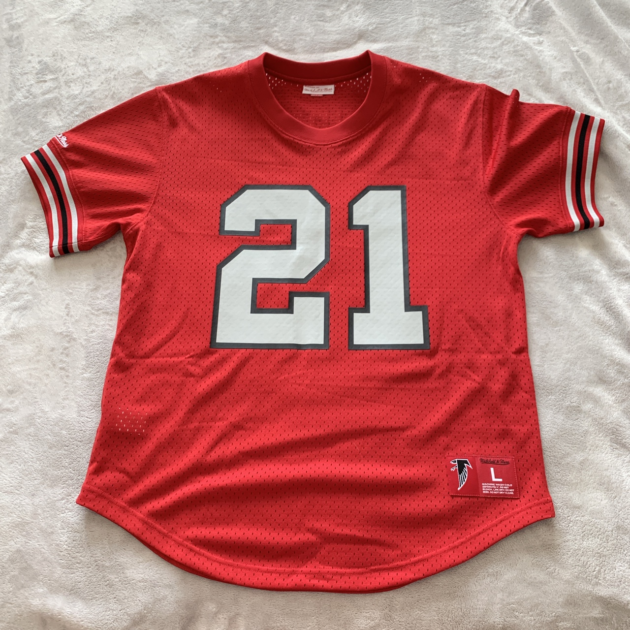 new products a0438 bdbc1 Mitchell and Ness - Atlanta Falcons - Deion Sanders... - Depop