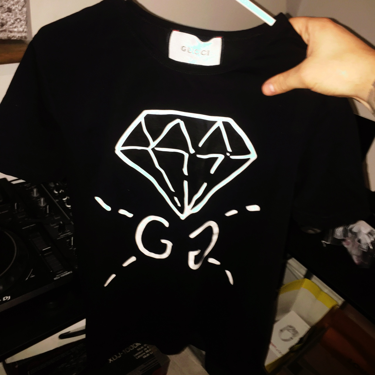 3be3ba5aaf6  samlondon95. last year. United Kingdom. Gucci Ghost - diamond tshirt.