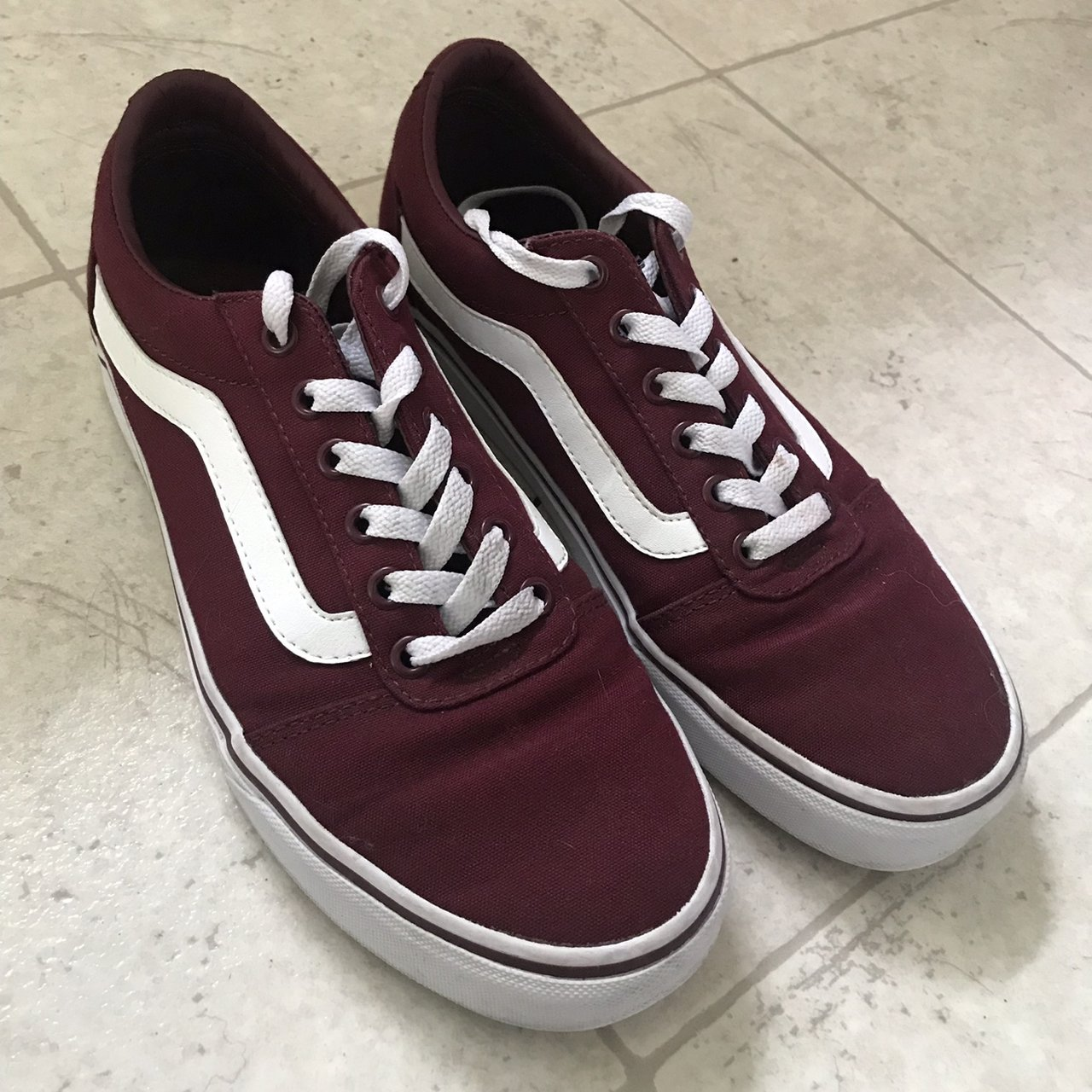 1a376a5d96 maroon vans old skool! hardly worn