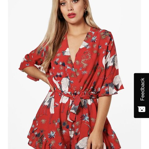 ffd509a71fd Boohoo playsuit size 20. Worn once. Cost £22 wanting £10 p+p - Depop