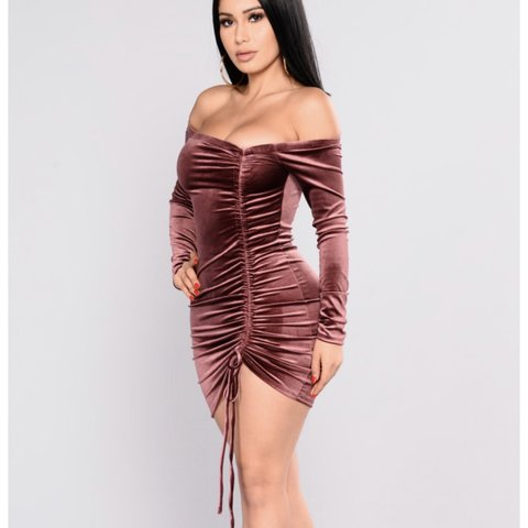 445d50ac48f Fashion Nova Year Of The Dragon Velvet Plum dress size sexy - Depop