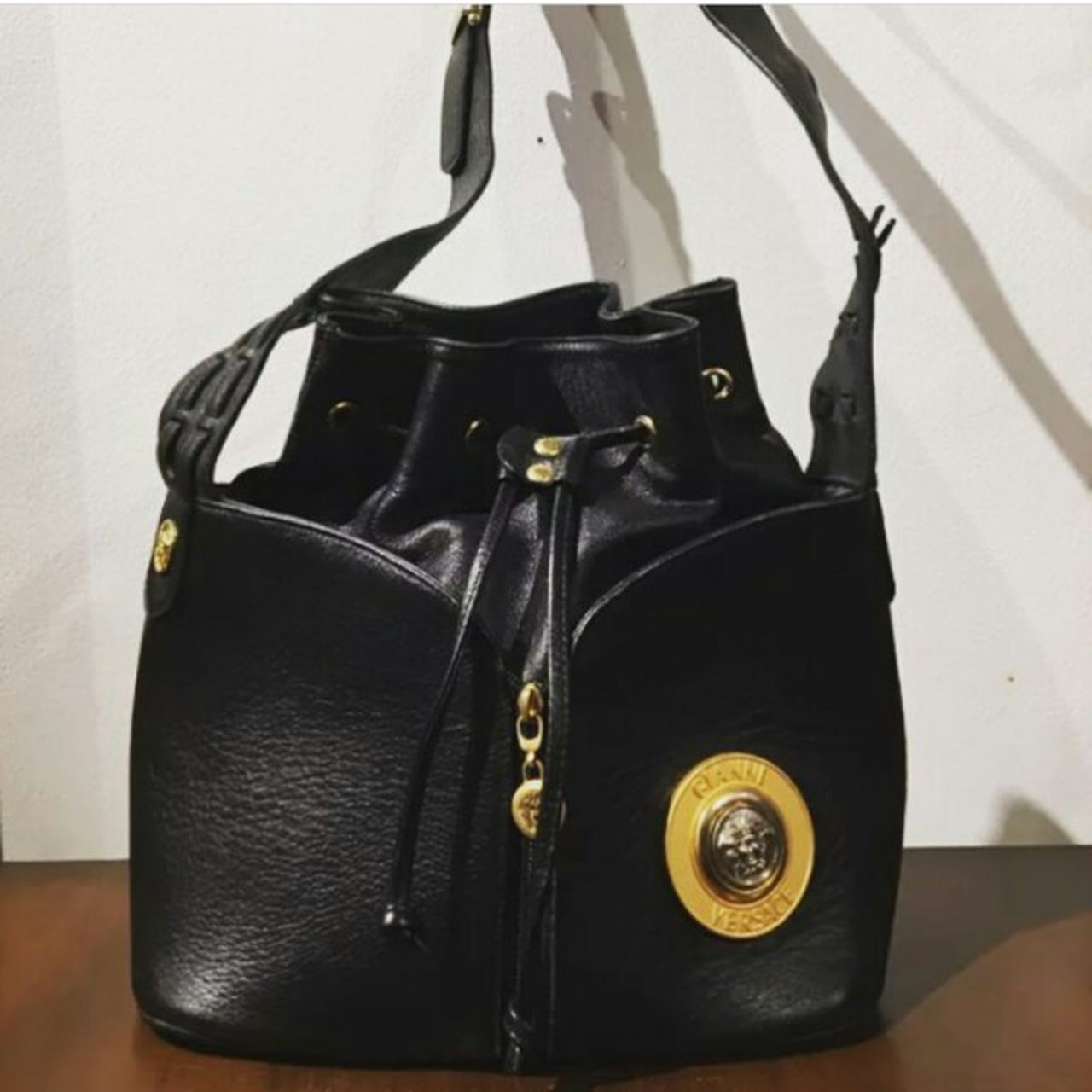 d0929371c7f5 Rare Vintage Gianni Versace leather BAG OF DREAMS. bought - Depop