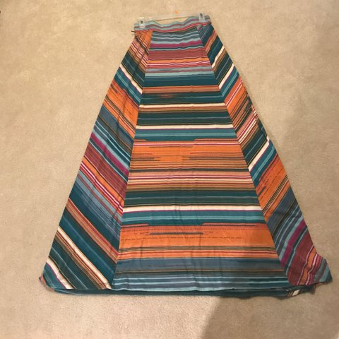 a755d4329 Striped maxi skirt from Maurices. Material is fairly heavy - Depop