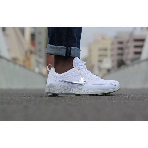 182aed20a72d4 Nike air zoom spiridon white wolf grey colourway. Sold out a - Depop