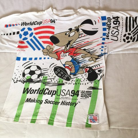 708ba202640 @heatbrokeraz. 2 years ago. Litchfield Park, United States. Vintage 1991  World Cup USA '94 Soccer T-Shirt
