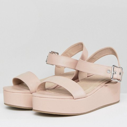 Platform Cwboexrd Fit Pink Sandals Wedge Wide Asos Nude Depop KlFc1J