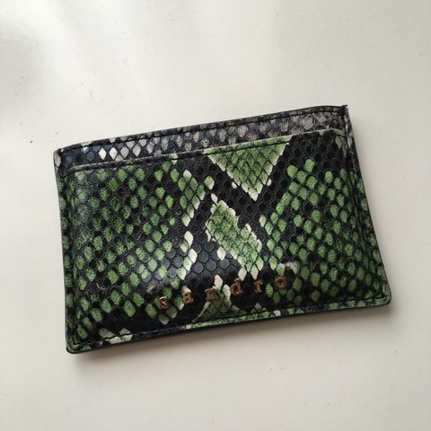 aac2753a5cf5 Sandro snake print card holder - used but in good condition - Depop
