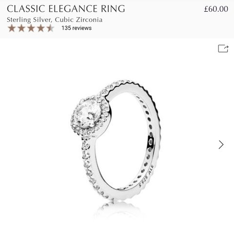 683b242aa @jloudesigns. 5 months ago. Stoke-on-Trent, GB. The most stunning pandora  ring. £60 retail.