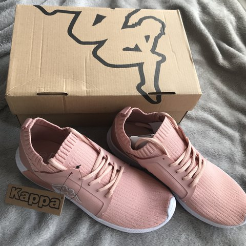 09b85fee578 Kappa pink trainers. In perfect condition, brand new in box - Depop