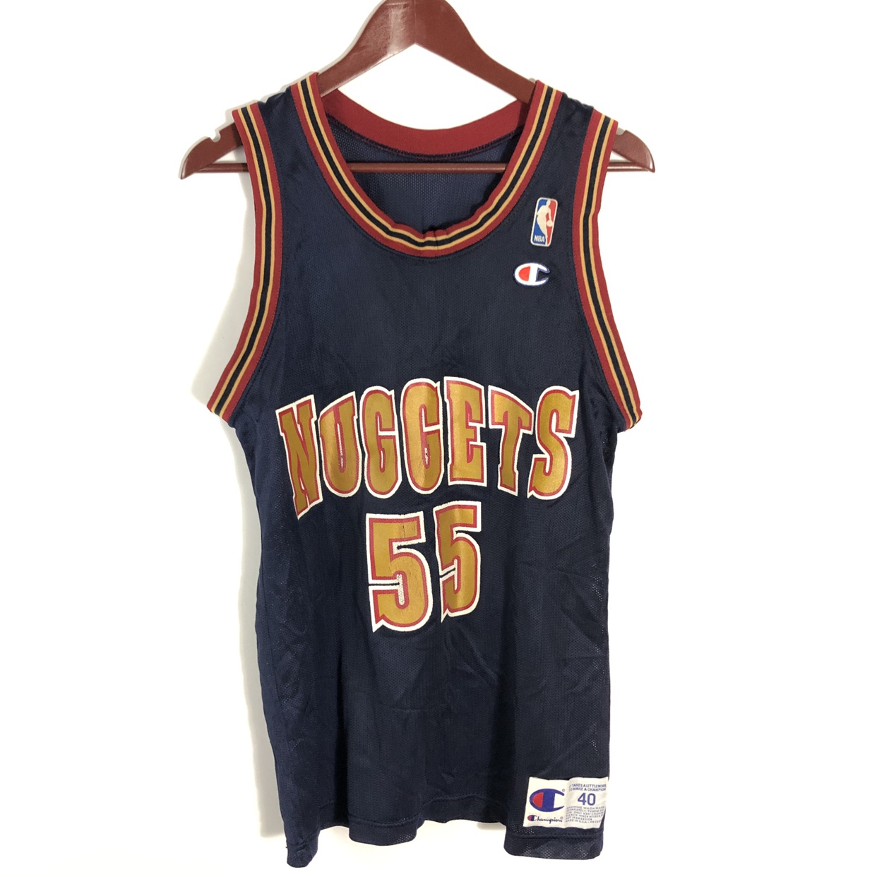 san francisco bc4d3 717de Denver Nuggets Dikembe Mutombo Champion Jersey Great... - Depop