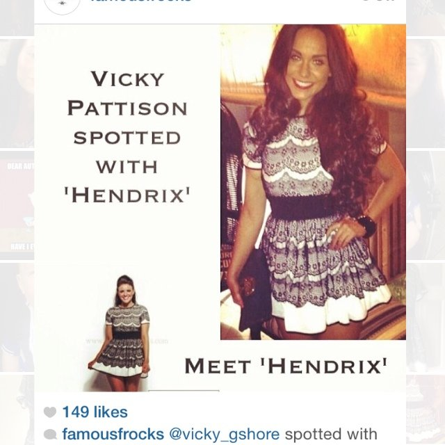 Black And White Lace Hendrix Dress As Seen On Vicky From 14 Depop