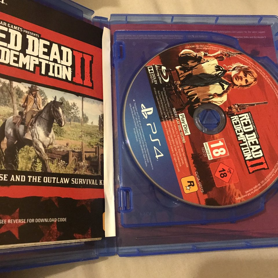 Red dead redemption 2 PS4 Played once Message    - Depop