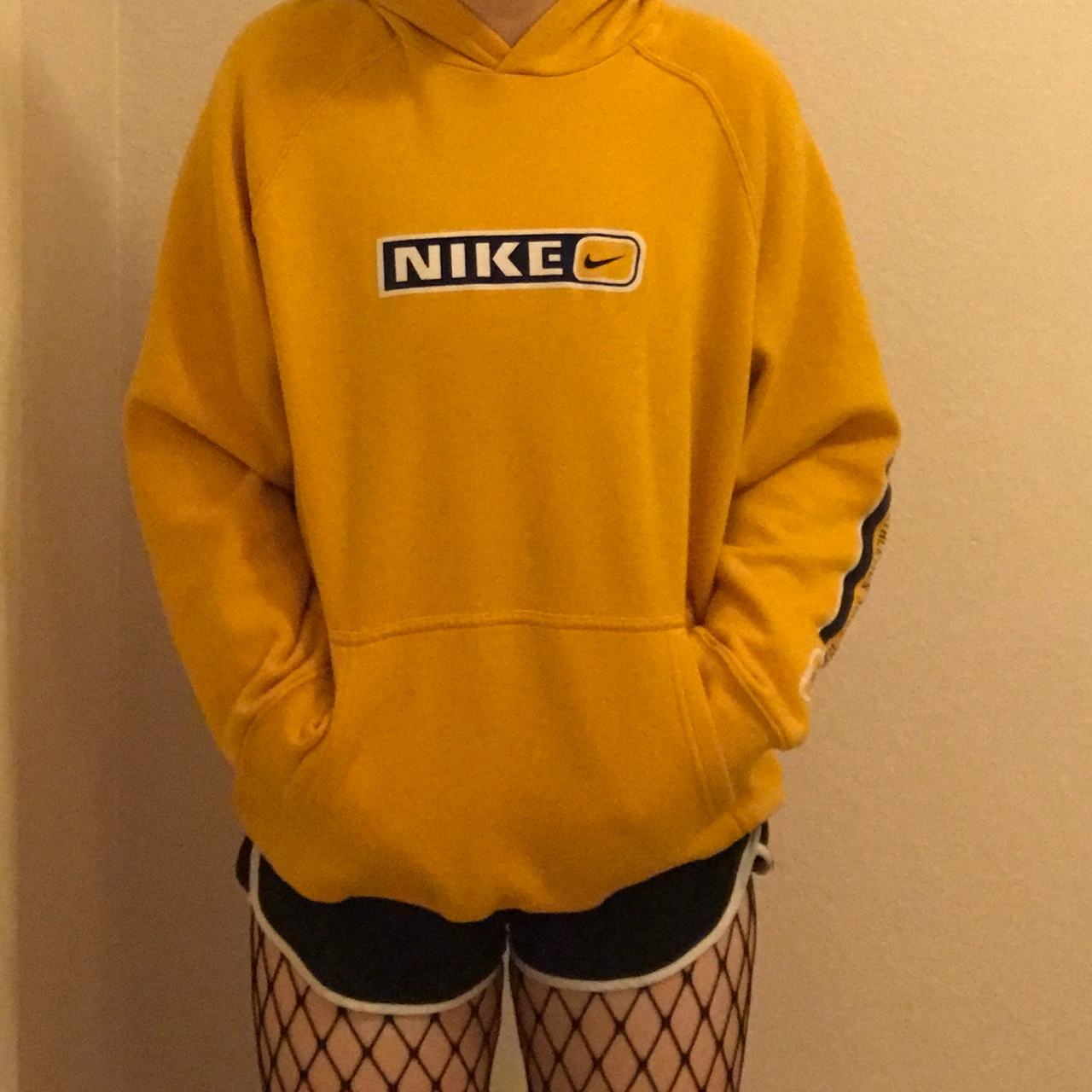 where can i buy special section fantastic savings Vintage late 90's Nike mustard yellow hoodie. Velvet... - Depop