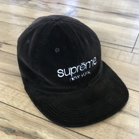 79d8cfe7d2f Black Supreme Corduroy Hat •Good Condition Has Normal For - Depop