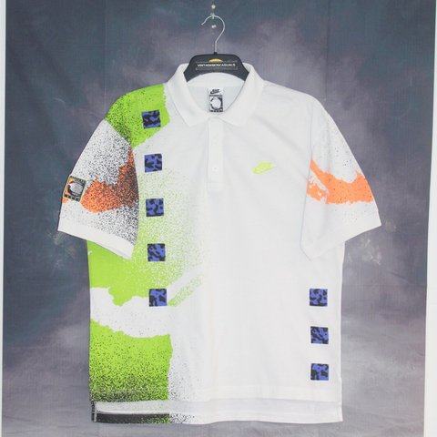 0f459a9a @vintage80scasuals. last month. London, United Kingdom. NIKE 90'S VINTAGE AGASSI  CHALLENGE COURT TENNIS POLO SHIRT