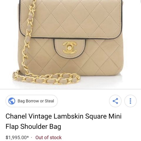 866d18a4adf8 Vintage Chanel mini flap in beige with black piping. - Depop