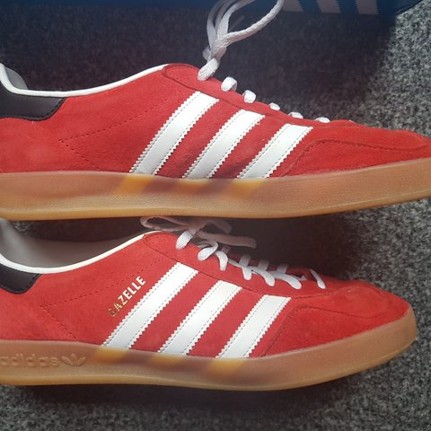 4181e5e23a0 Adidas Originals Footwear Gazelle Indoor Trainers With the - Depop