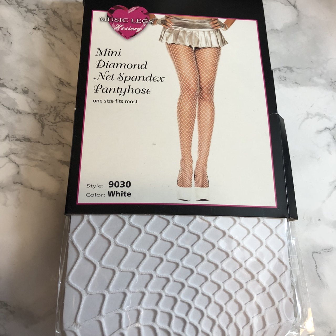 e56aeac6314 White fishnet tights. One size. Brand new in packaging. me - Depop