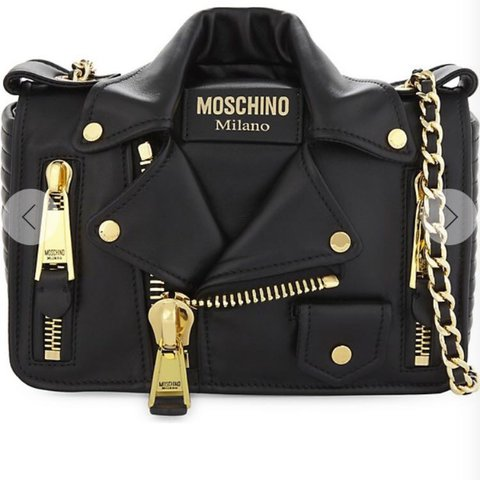 f022aecd408 @chanxclosset. 2 years ago. London, United Kingdom. Moschino jacket mini  leather Cross bag for £700 RP ...