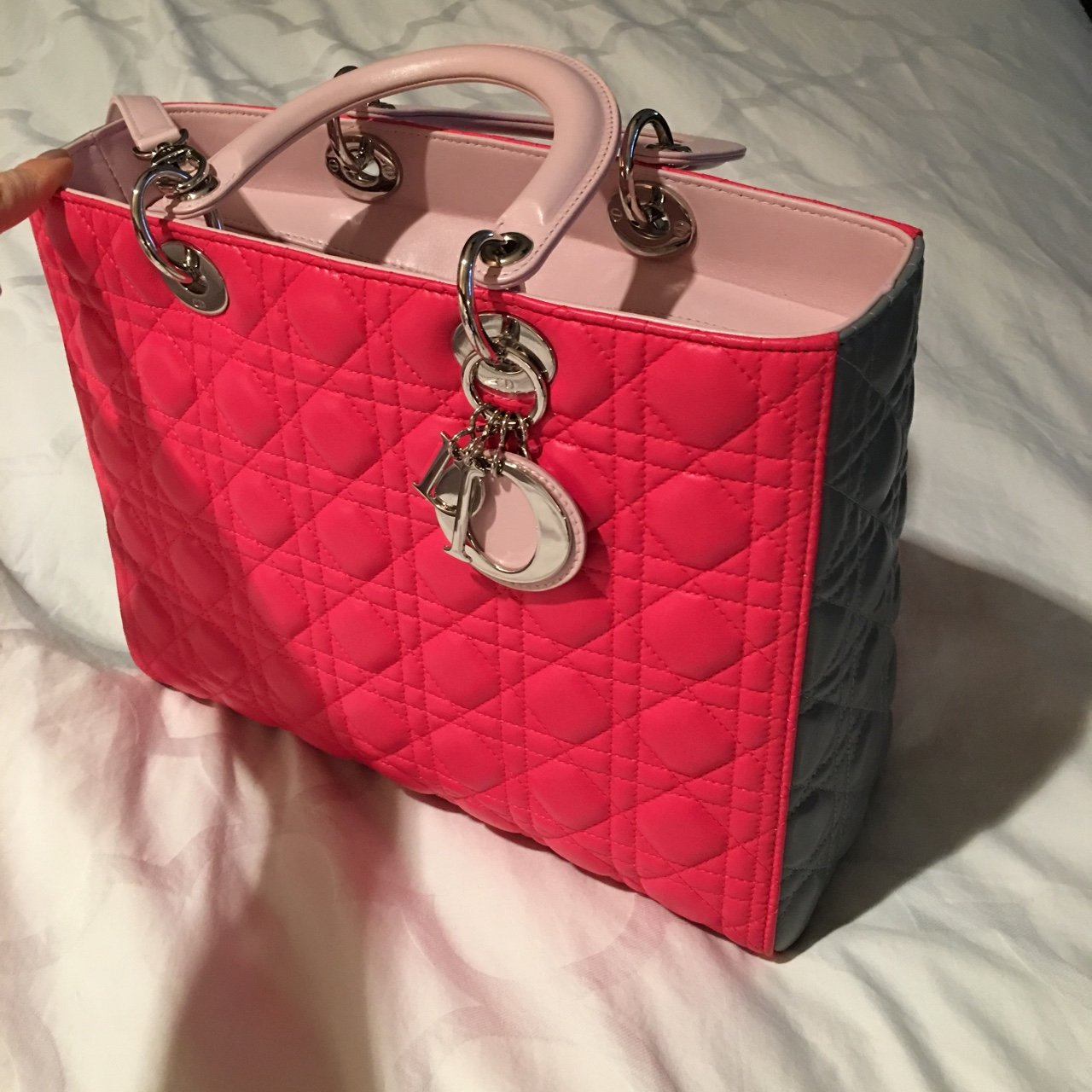 Dior. Lady dior large bag. Brand new with box. Tricolor. I - Depop f7c96194a0362