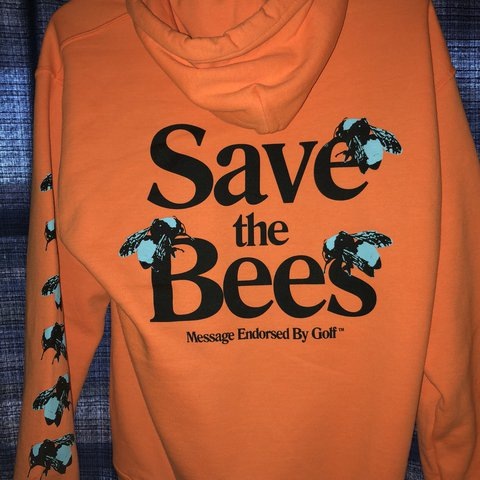 f3f8be3d77c7 Save the bees Tyler the creator hoodie Bought from the in - Depop