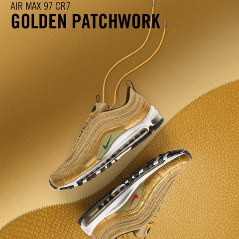 quality design 24431 1bd8b  007james88. 2 years ago. Sheffield, UK. Nike Air Max 97 CR7 Golden  Patchwork ...