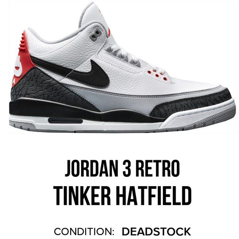 61d0393d918 Nike Air Jordan 3 Retro Tinker Hatfield PID  RED-CEMENT     - Depop