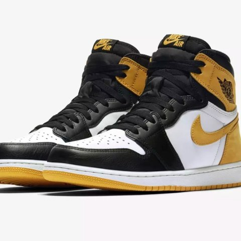 1f17f1aa85bb Nike Air Jordan 1 Retro High OG Yellow Ochre 6 Rings Best   - Depop
