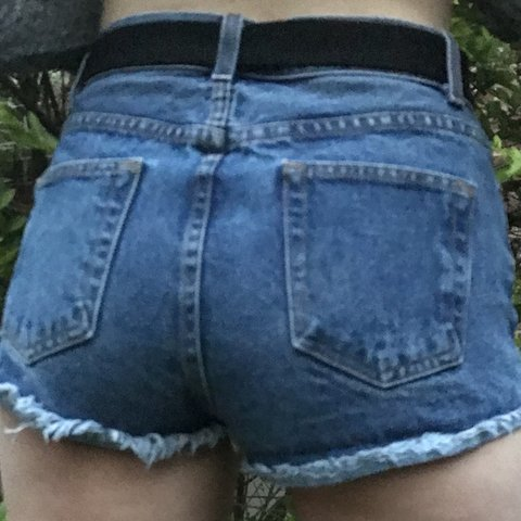 65ad9836b9 @madmckim. 8 months ago. Draper, United States. Brandy Melville high  waisted jean shorts. Would best fit ...