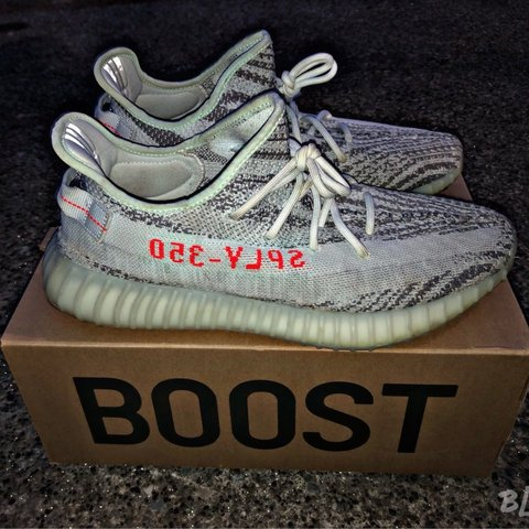 """d2e2f5300 Adidas YEEZY 350 V2 """"Blue Tint"""" LIGHTLY WORN AND WILL BE ! - Depop"""