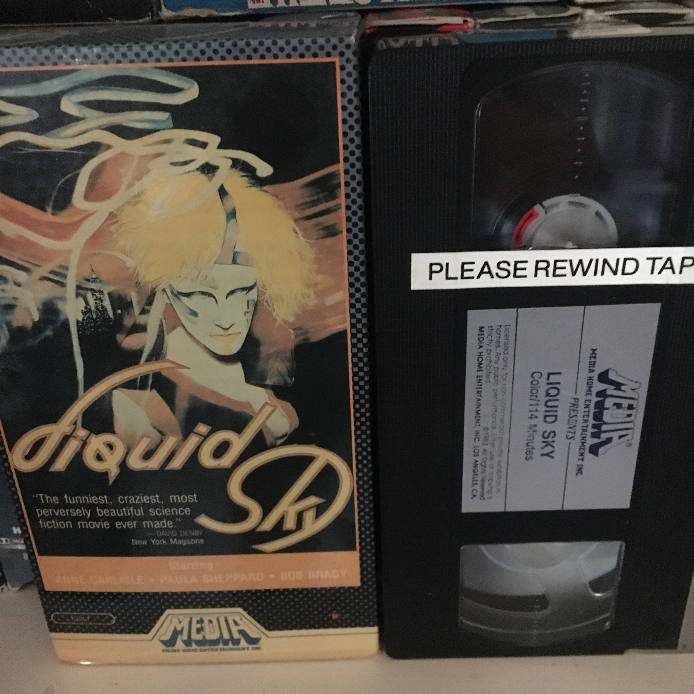 Liquid Sky VHS Cover is slightly faded but in good    - Depop