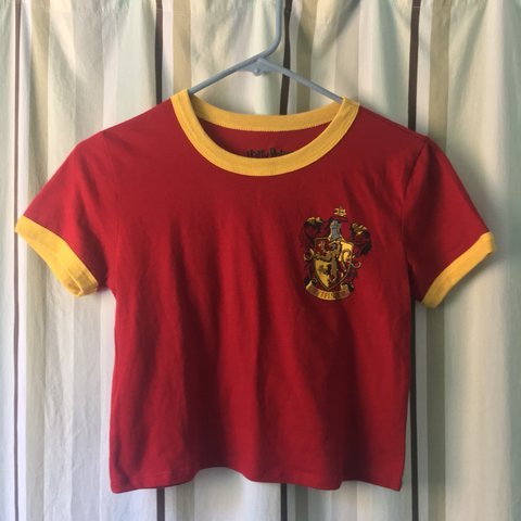 751d704240cf73 Harry Potter Gryffindor crop top from F21 🦁 • Size small - Depop