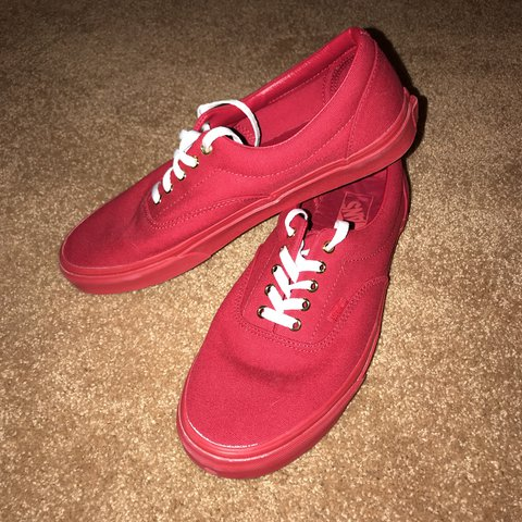 Vans Monochrome Red Era s Size 11.5–Worn only a few times ee1e8185f
