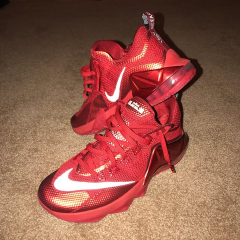 af1c1ab116 @aaronp11. last year. Middleborough, United States. Nike Lebron 12 Low (University  Red/Reflective Silver-Gym Red-Black)