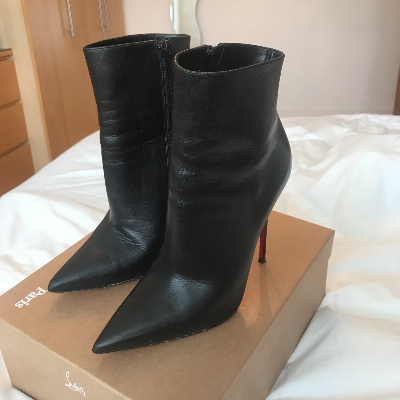 big sale cf064 2f662 Christian Louboutin So Kate boots in black leather.... - Depop