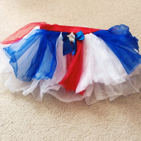 73cecccc8a RED WHITE AND BLUE TUTU! Worn once for a work event and in - Depop