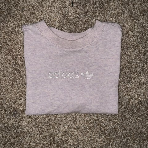 6684013d18c271 Adidas cropped tee • beautiful light berry marl • tagged as - Depop