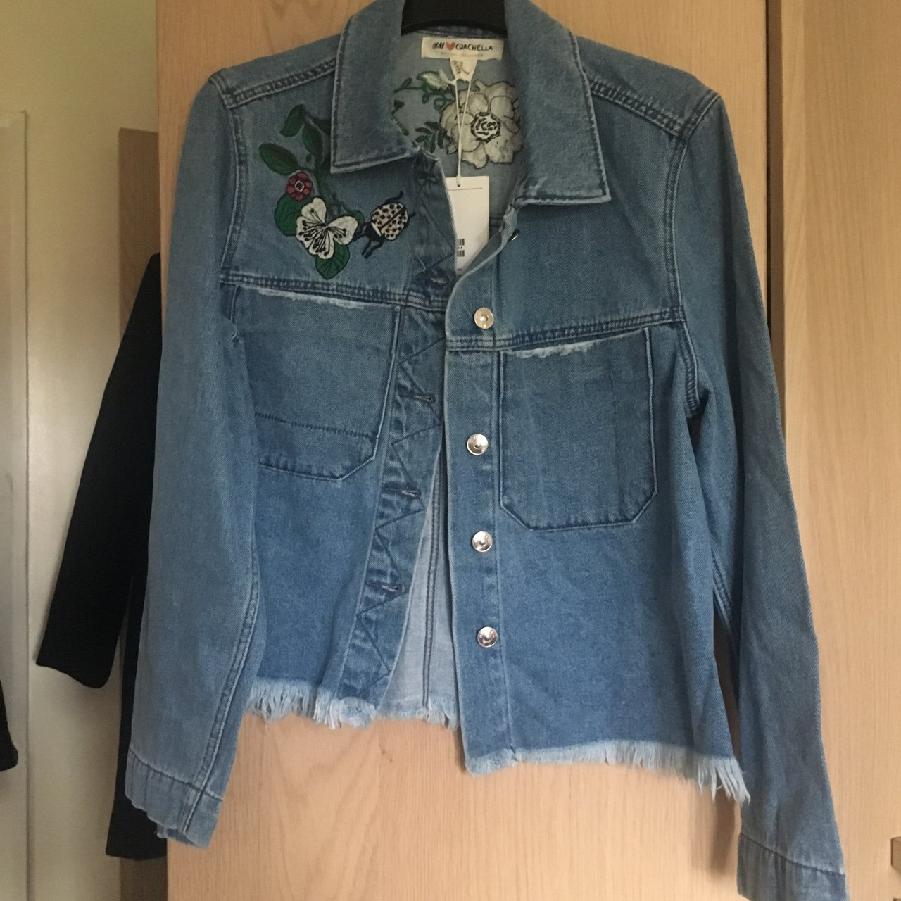 8b9f0a01dc9 H M Coachella collection denim jacket. Size 18 but doesn t - Depop
