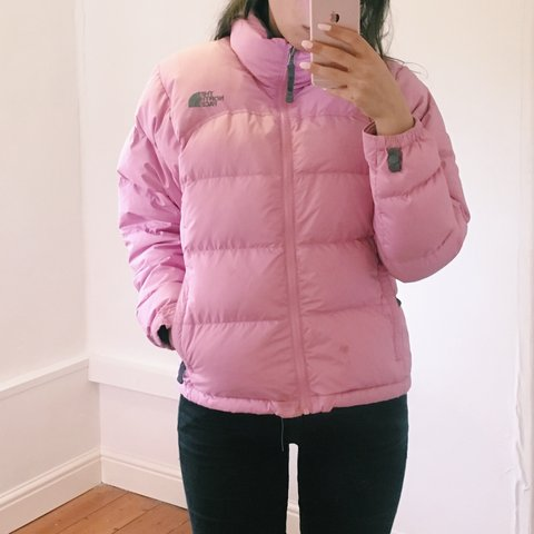 e75064959c NORTH FACE baby pink puffer jacket. in good condition
