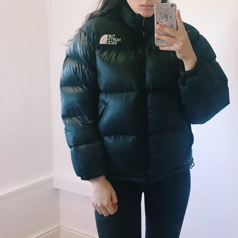 fd821aba4d NORTH FACE black puffer puffa 700 down jacket. size label to - Depop
