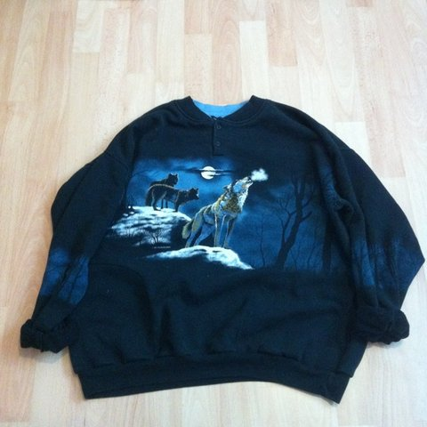 be6a3c83 Vintage wolf jumper, from urban outfitters. Only worn a few - Depop