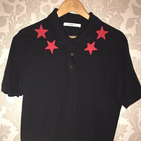 f27e6789 @kaka7021. last year. Barking, UK. GIVENCHY POLO BLACK POLO WITH RED STARS  IF YOU CAN ...