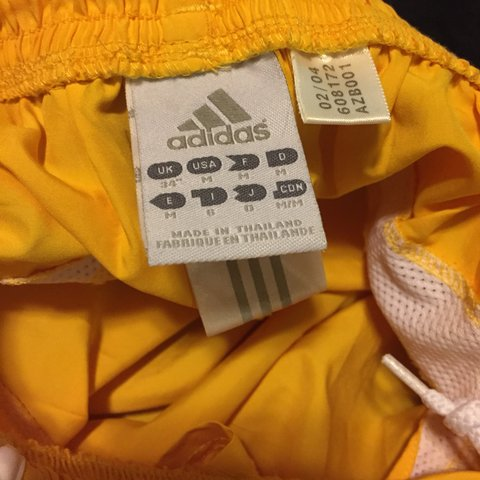 9399a027099 yellow adidas track shorts !! pair w a tube top and u got a - Depop