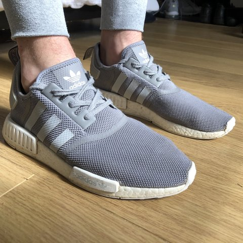 7a1f4036eae26 Adidas NMD R1 Wolf Grey Size UK 11 Great Condition Could Do - Depop