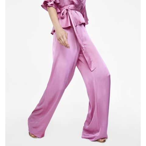 f4d17bab @stylebay. 9 months ago. United Kingdom. Zara lilac Wide leg Palazzo  Trousers. Brand new with tags.