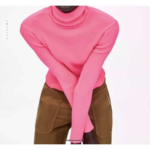 stylebay. 4 months ago. United Kingdom. Zara Neon Pink Ribbed Turtleneck  Sweater. Brand new with tags. Size M 10 2cd59c6c4