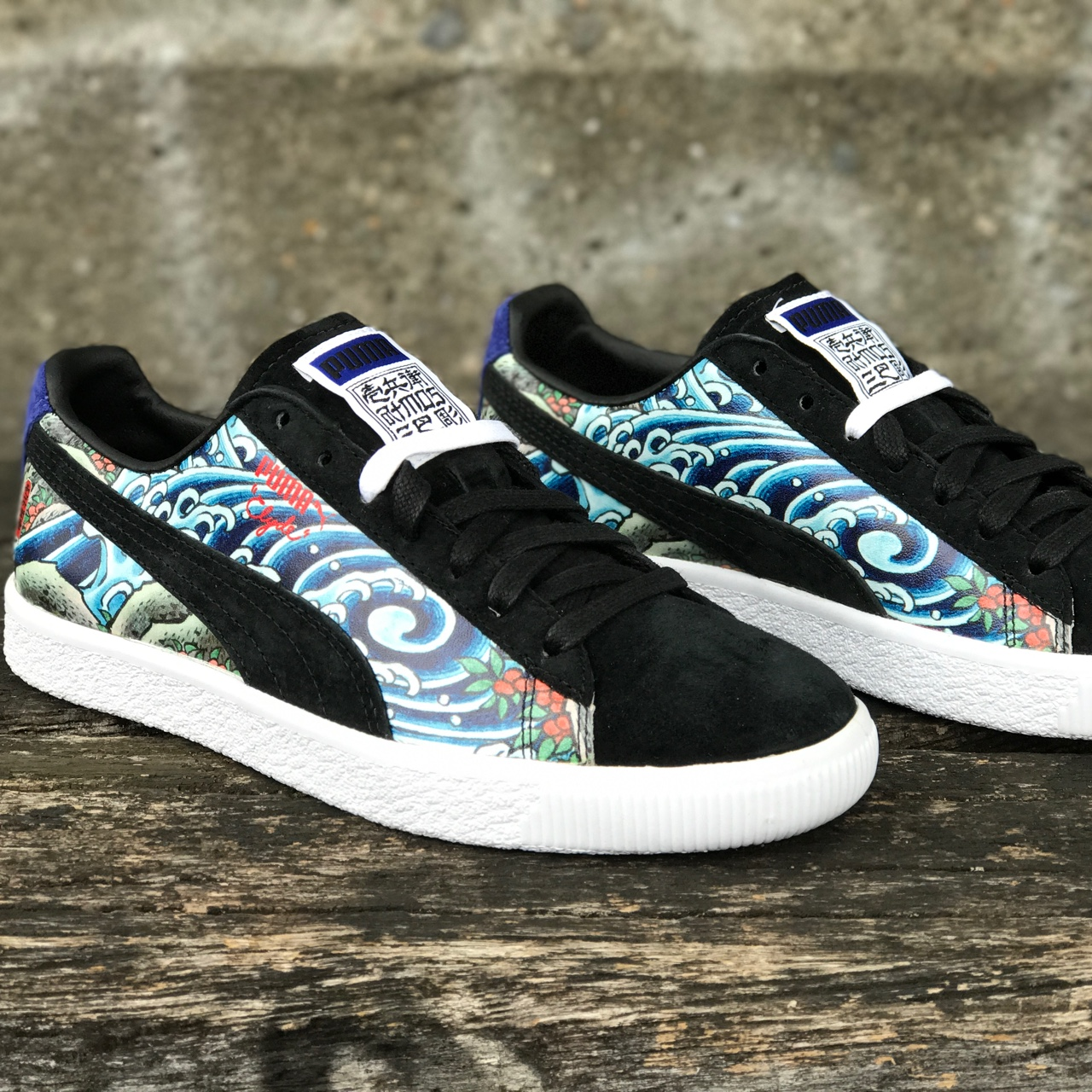 cheap for discount 78675 47215 Puma Clyde Atmos x Three Tides Tattoo... - Depop