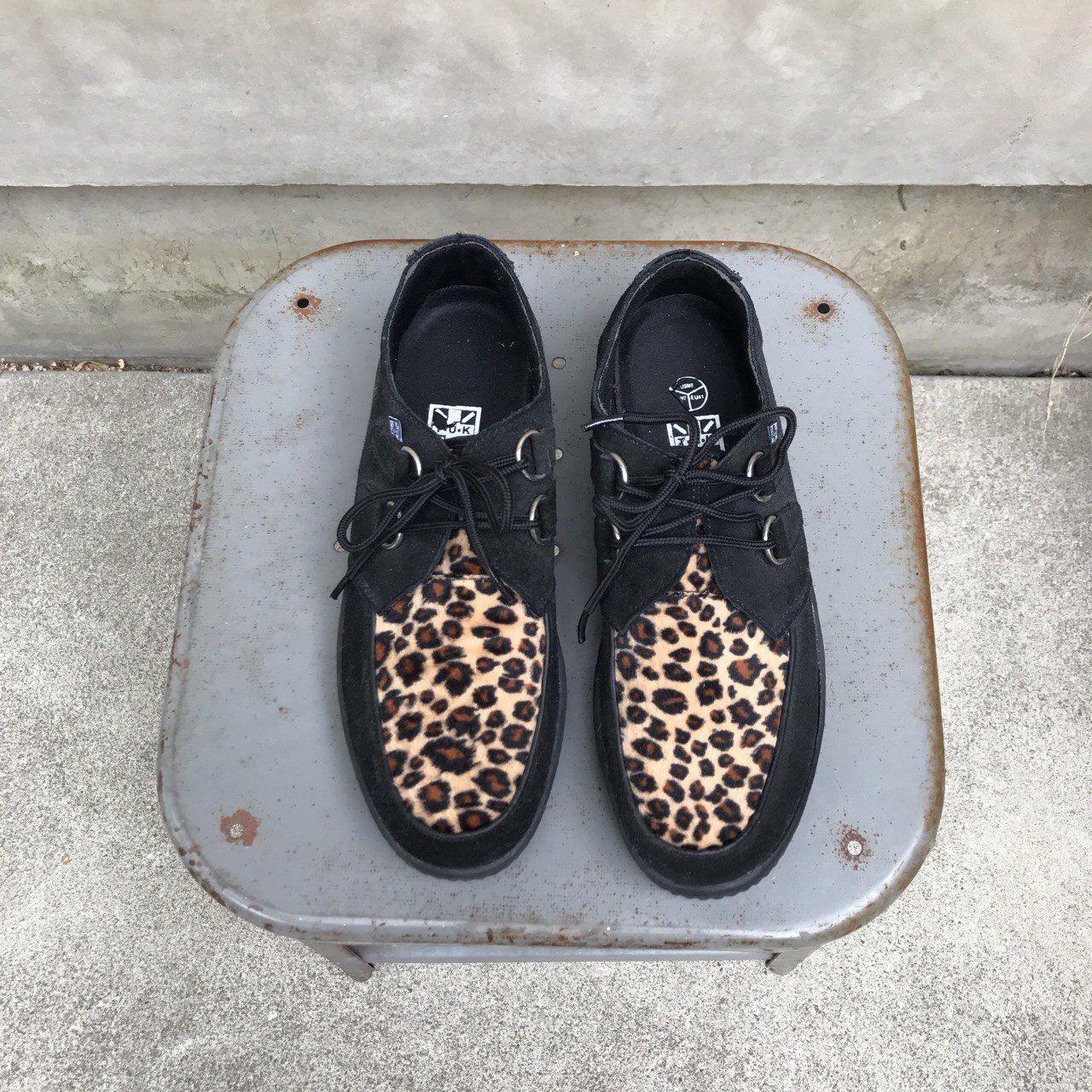 887aebab1 RESERVED FOR  deadlybunny • T.U.K women s black suede and 10 - Depop