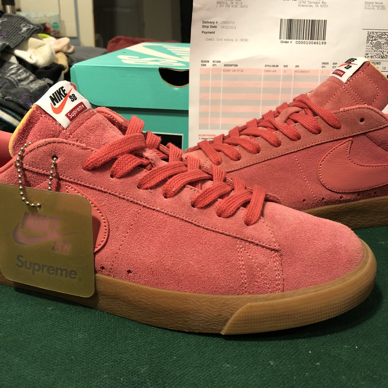 NIKE X SUPREME Blazer Low Gt QS Size Men's 12 Worn Depop