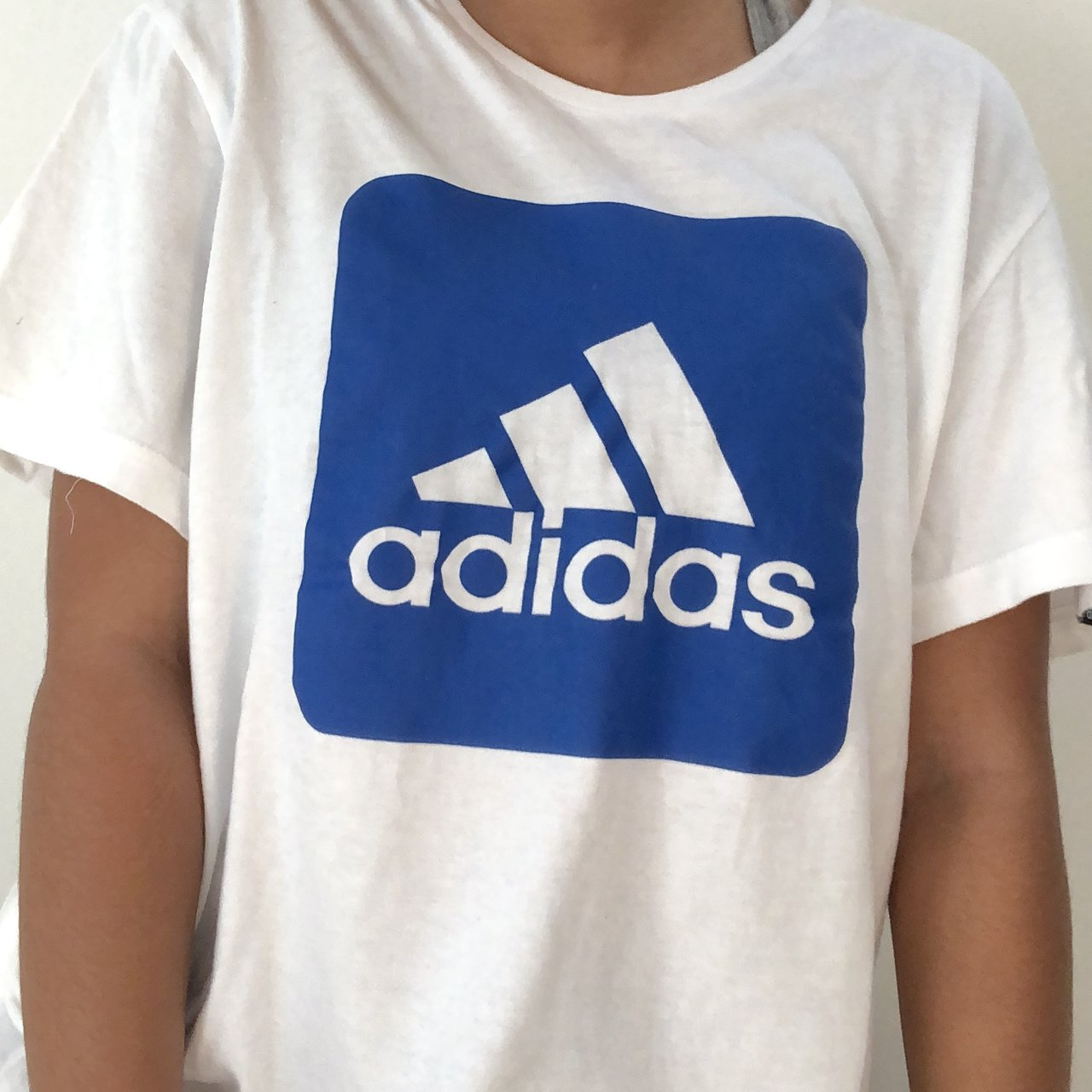 🦋White and royal blue Adidas 0c133478d